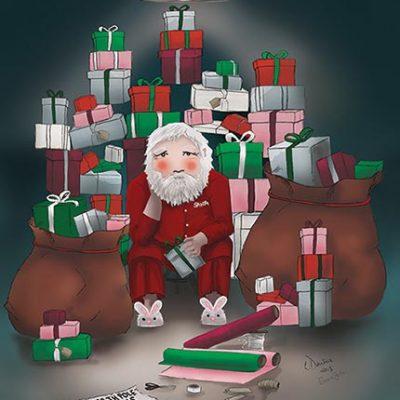 Elves on Strike - presents Greeting Card
